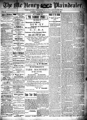 McHenry Plaindealer (McHenry, IL), 26 Oct 1898