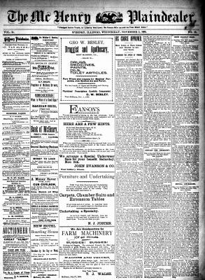 McHenry Plaindealer (McHenry, IL), 2 Nov 1898