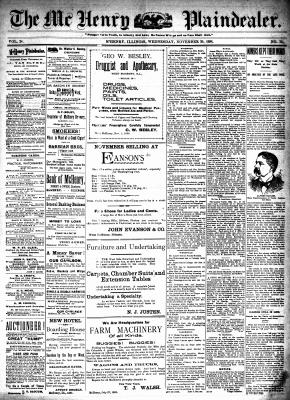 McHenry Plaindealer (McHenry, IL), 30 Nov 1898