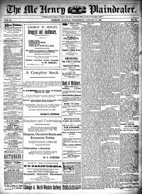 McHenry Plaindealer (McHenry, IL), 25 Jan 1899
