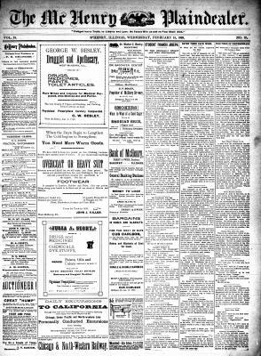 McHenry Plaindealer (McHenry, IL), 15 Feb 1899