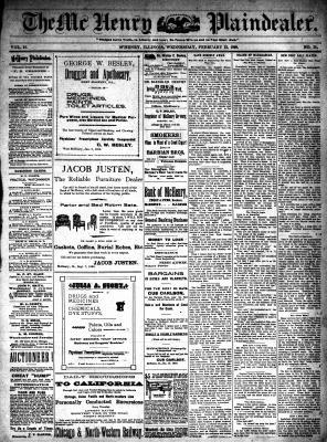 McHenry Plaindealer (McHenry, IL), 22 Feb 1899