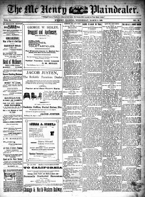 McHenry Plaindealer (McHenry, IL), 8 Mar 1899