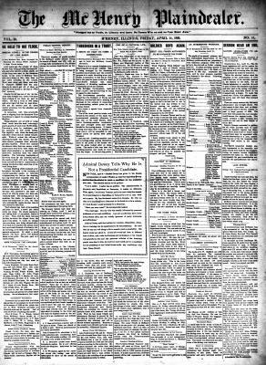 McHenry Plaindealer (McHenry, IL), 14 Apr 1899