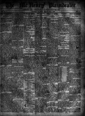 McHenry Plaindealer (McHenry, IL), 5 May 1899