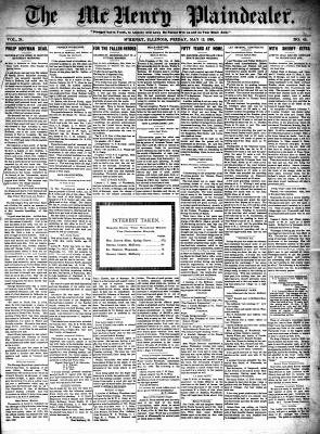 McHenry Plaindealer (McHenry, IL), 12 May 1899