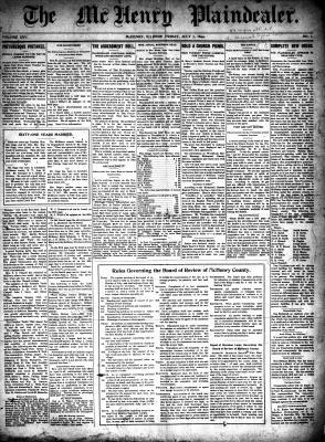 McHenry Plaindealer (McHenry, IL), 7 Jul 1899