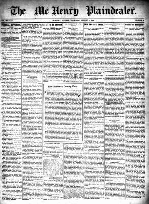 McHenry Plaindealer (McHenry, IL), 3 Aug 1899