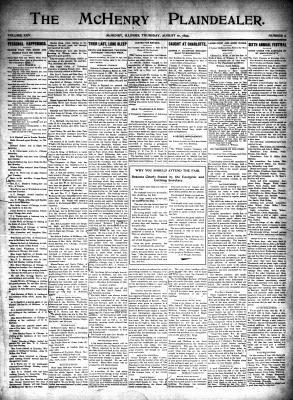 McHenry Plaindealer (McHenry, IL), 10 Aug 1899
