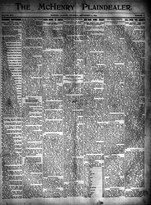 McHenry Plaindealer (McHenry, IL), 14 Sep 1899