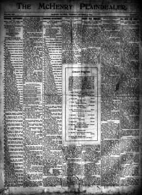 McHenry Plaindealer (McHenry, IL), 12 Oct 1899