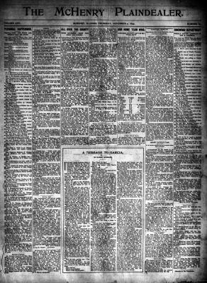 McHenry Plaindealer (McHenry, IL), 9 Nov 1899