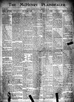 McHenry Plaindealer (McHenry, IL), 30 Nov 1899