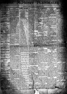 McHenry Plaindealer (McHenry, IL), 28 Dec 1899