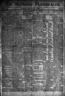 McHenry Plaindealer (McHenry, IL), 11 Jan 1900