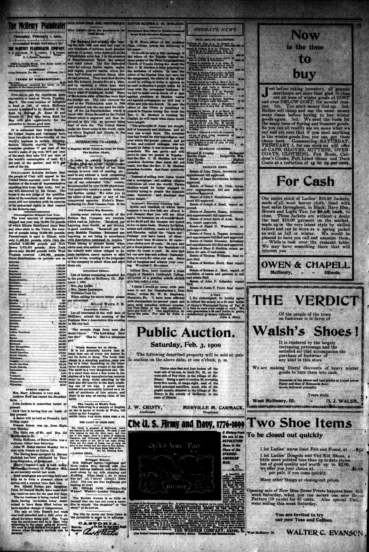 McHenry Plaindealer (McHenry, IL), 1 Feb 1900