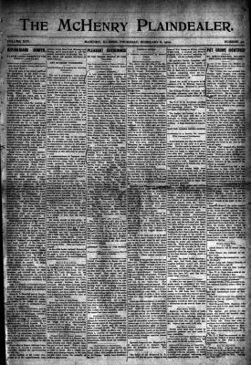 McHenry Plaindealer (McHenry, IL), 8 Feb 1900