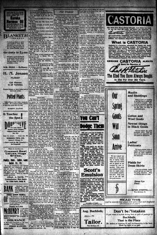 McHenry Plaindealer (McHenry, IL), 15 Feb 1900