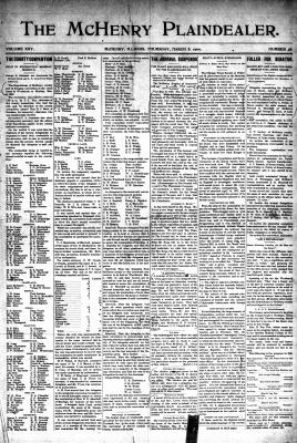McHenry Plaindealer (McHenry, IL), 8 Mar 1900