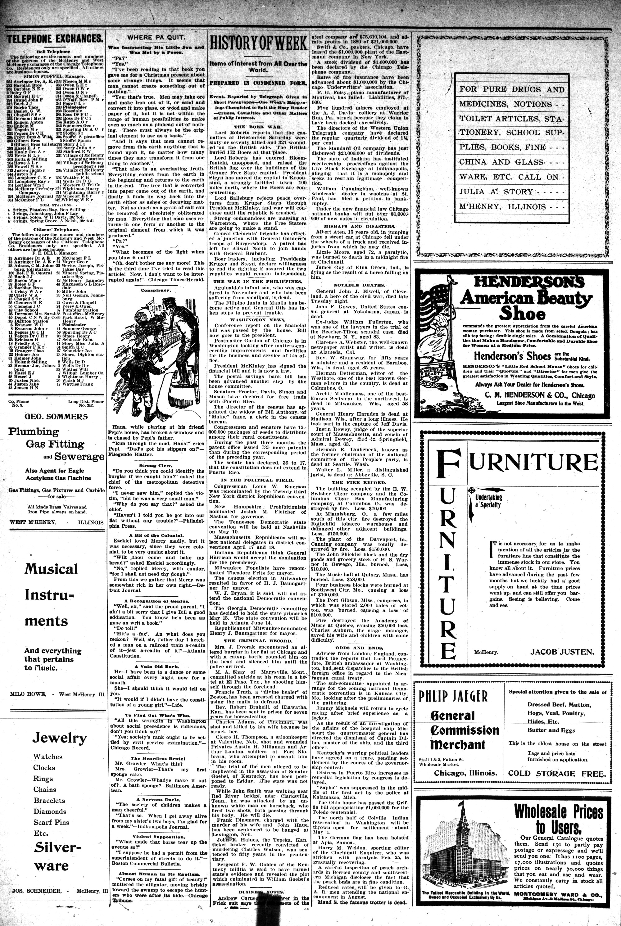 McHenry Plaindealer (McHenry, IL), 22 Mar 1900