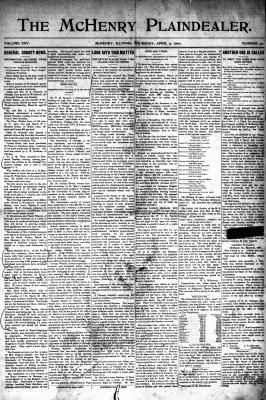 McHenry Plaindealer (McHenry, IL), 5 Apr 1900