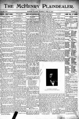 McHenry Plaindealer (McHenry, IL), 19 Apr 1900