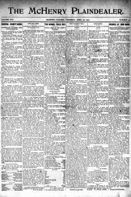 McHenry Plaindealer (McHenry, IL), 26 Apr 1900