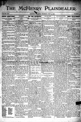 McHenry Plaindealer (McHenry, IL), 3 May 1900