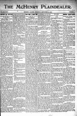 McHenry Plaindealer (McHenry, IL), 13 Sep 1900
