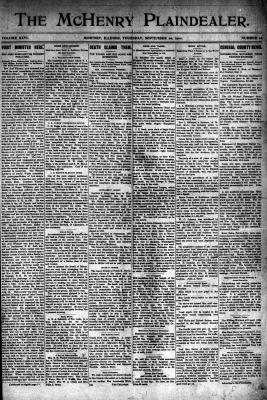 McHenry Plaindealer (McHenry, IL), 20 Sep 1900