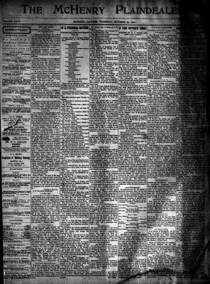 McHenry Plaindealer (McHenry, IL), 25 Oct 1900