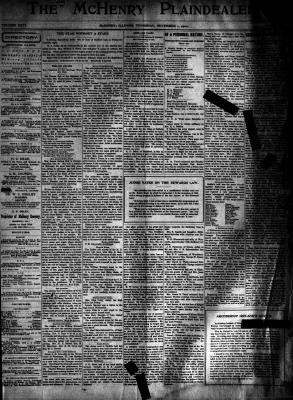McHenry Plaindealer (McHenry, IL), 1 Nov 1900