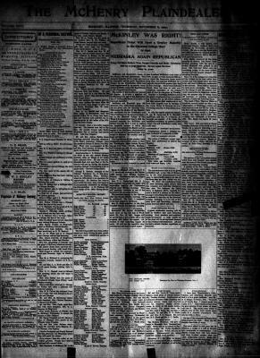 McHenry Plaindealer (McHenry, IL), 8 Nov 1900