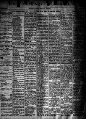 McHenry Plaindealer (McHenry, IL), 22 Nov 1900