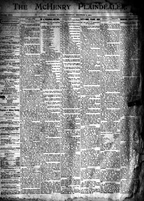 McHenry Plaindealer (McHenry, IL), 6 Dec 1900