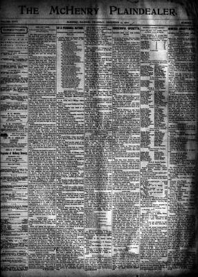 McHenry Plaindealer (McHenry, IL), 13 Dec 1900