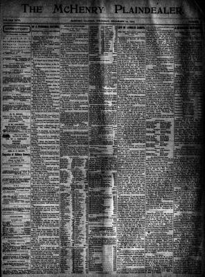 McHenry Plaindealer (McHenry, IL), 20 Dec 1900