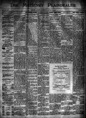 McHenry Plaindealer (McHenry, IL), 24 Jan 1901