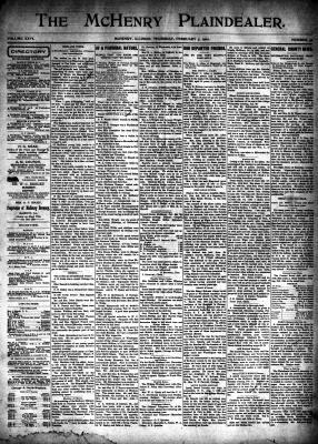 McHenry Plaindealer (McHenry, IL), 7 Feb 1901