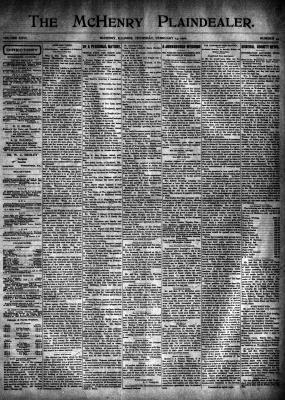 McHenry Plaindealer (McHenry, IL), 14 Feb 1901