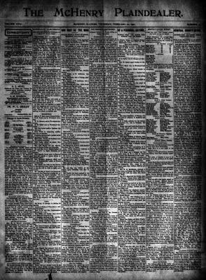 McHenry Plaindealer (McHenry, IL), 21 Feb 1901