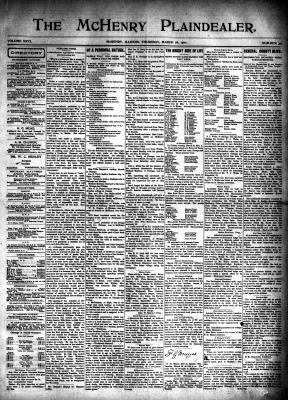 McHenry Plaindealer (McHenry, IL), 28 Mar 1901