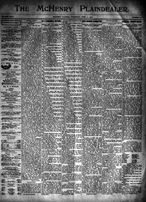McHenry Plaindealer (McHenry, IL), 11 Apr 1901