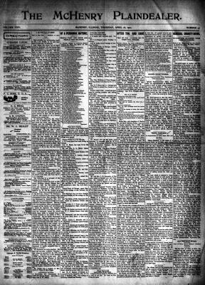 McHenry Plaindealer (McHenry, IL), 18 Apr 1901