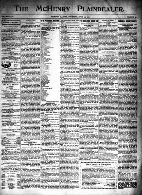 McHenry Plaindealer (McHenry, IL), 25 Apr 1901