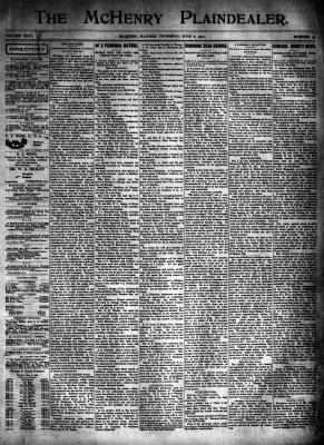 McHenry Plaindealer (McHenry, IL), 6 Jun 1901