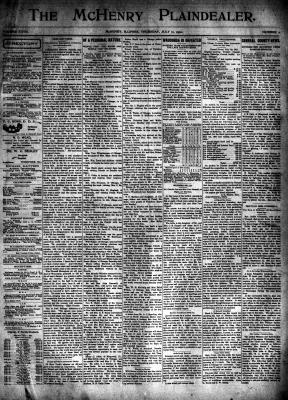 McHenry Plaindealer (McHenry, IL), 11 Jul 1901