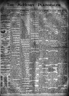 McHenry Plaindealer (McHenry, IL), 18 Jul 1901