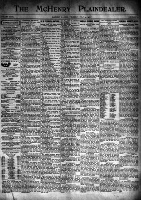McHenry Plaindealer (McHenry, IL), 25 Jul 1901