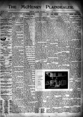 McHenry Plaindealer (McHenry, IL), 8 Aug 1901